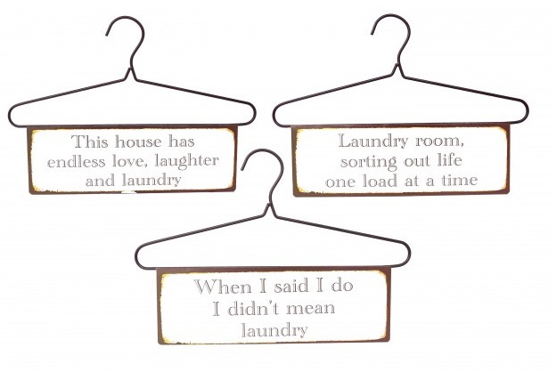 Metalskilt vasketøj