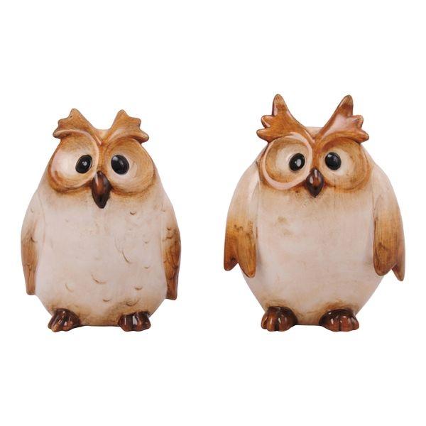Ugle i keramik, 2 forskellige