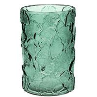 Cylinderglasvase Gingko Biloba grøn