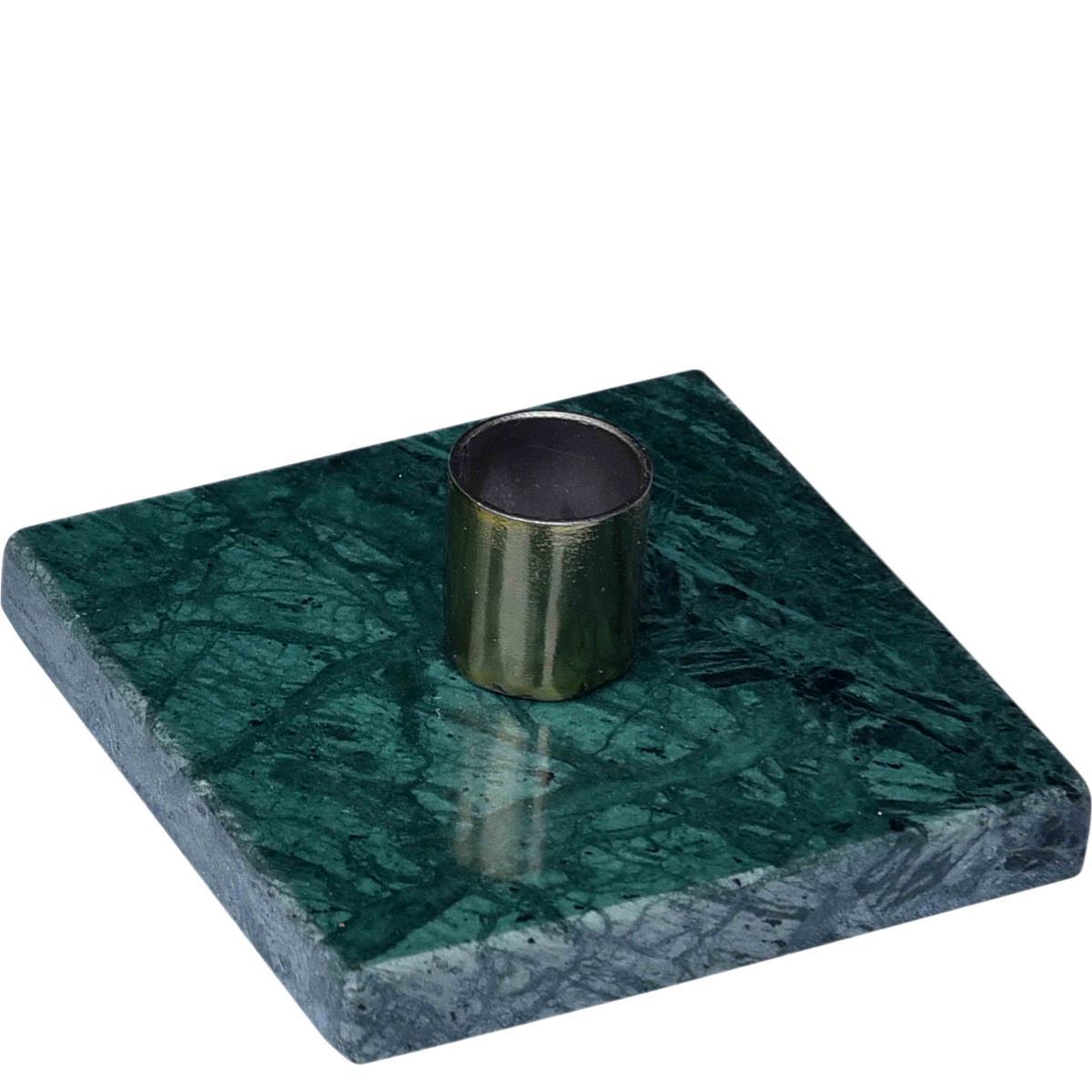 Lysestage i grøn marmor