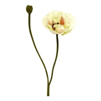 Kunstig blomst, hvid valmue