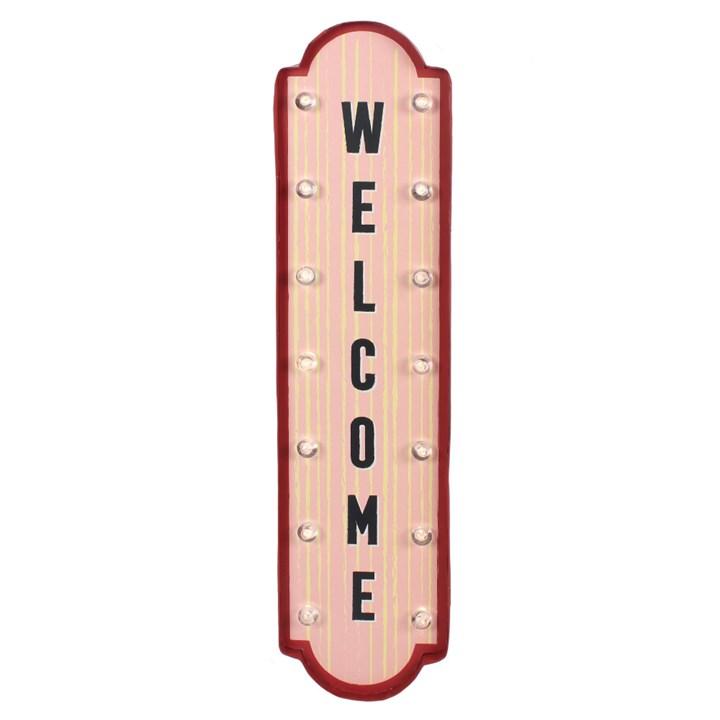 Skilt med lys light up sign Welcome