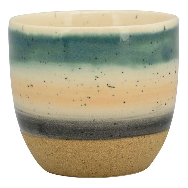 Potteskjuler i keramik, med striber