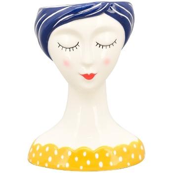 Vase i porcelæn m/gul bluse, MusH