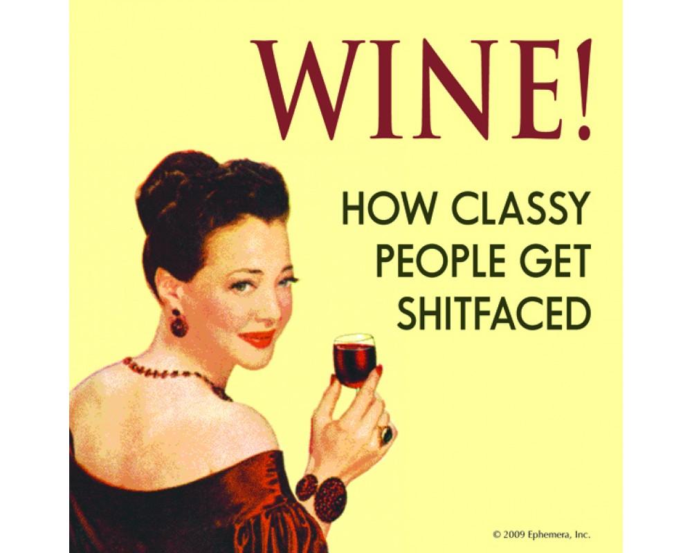 Coaster med vin citat