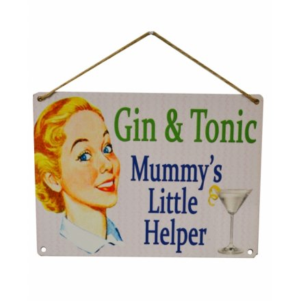 "Metalskilt ""Gin & Tonic"""
