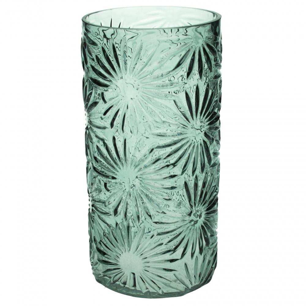 Cylinderglasvase Marguerit, grøn