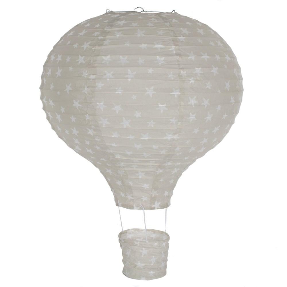 Lampeskærm i papir luftballon grå