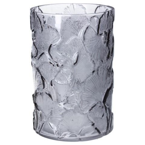 Cylinderglasvase Gingko Biloba, grå