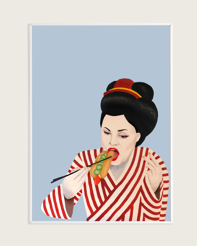 Plakat Sulten Geisha A3 Taisho