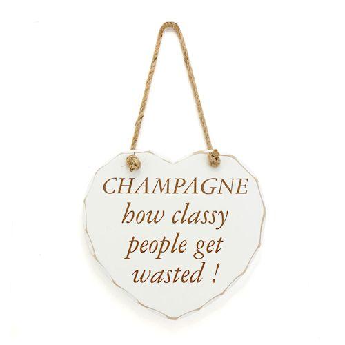 Træskilt Champagne