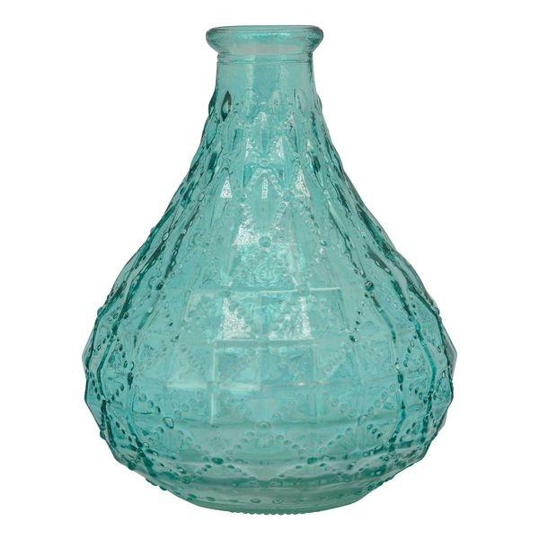 Minivase i farvet glas, 9x12,5 cm