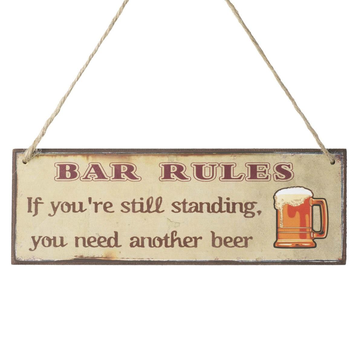 Træskilt bar regler