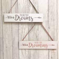 Træskilt dreams 37x8 cm