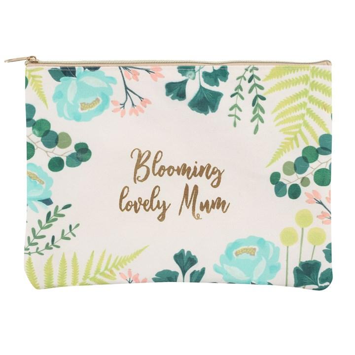 Make-up pung med blomster