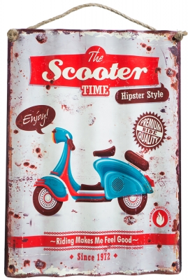 Metalskilt Scooter
