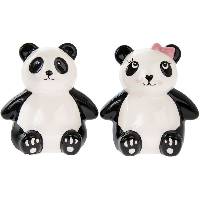 Panda sparebøsse 13 cm