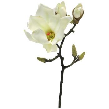 Kunstig blomst, hvid magnoliagren