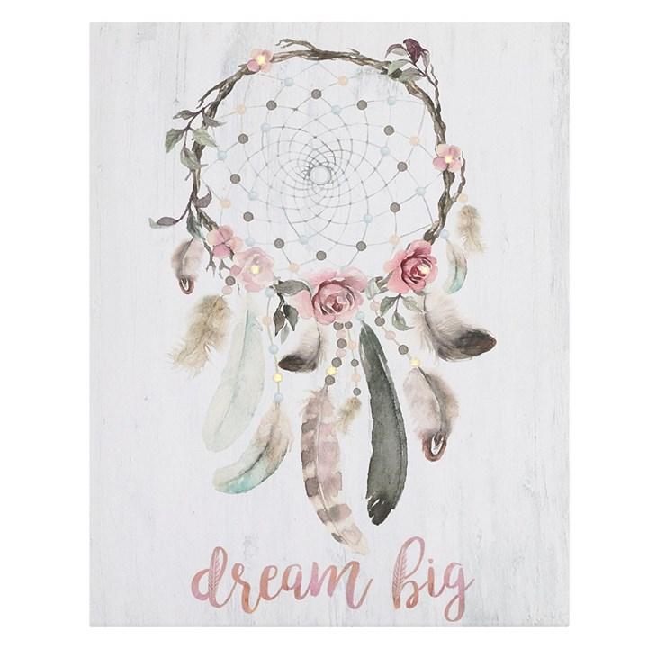 Billede med LED lys Dream pink