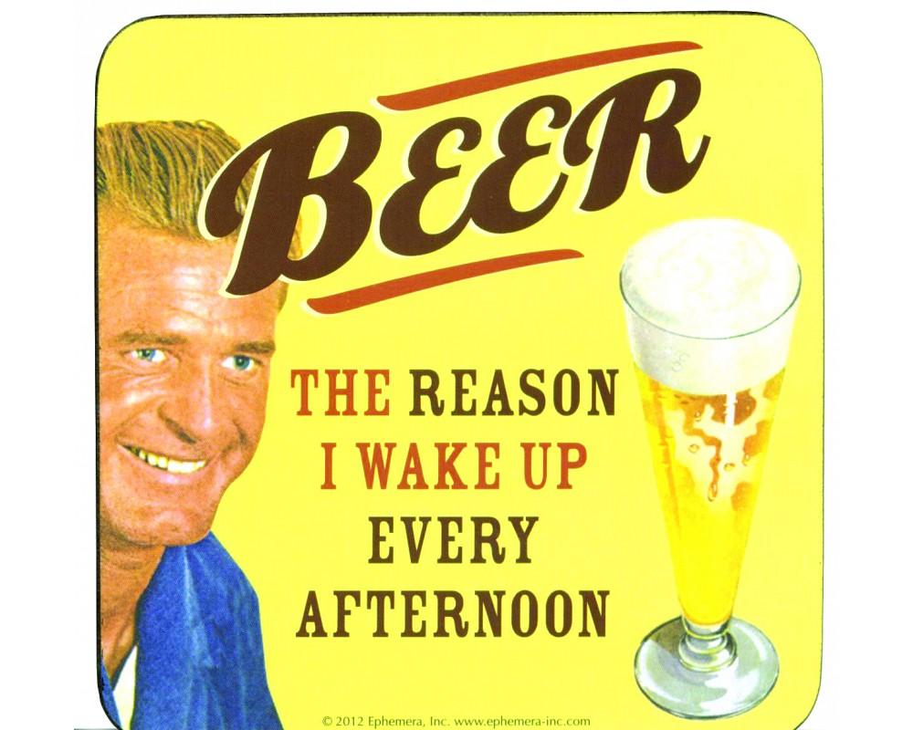 Coaster med citat Beer