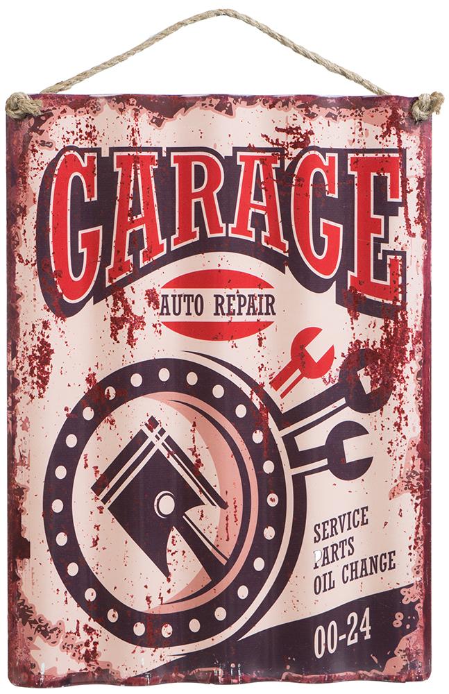 Metalskilt garage