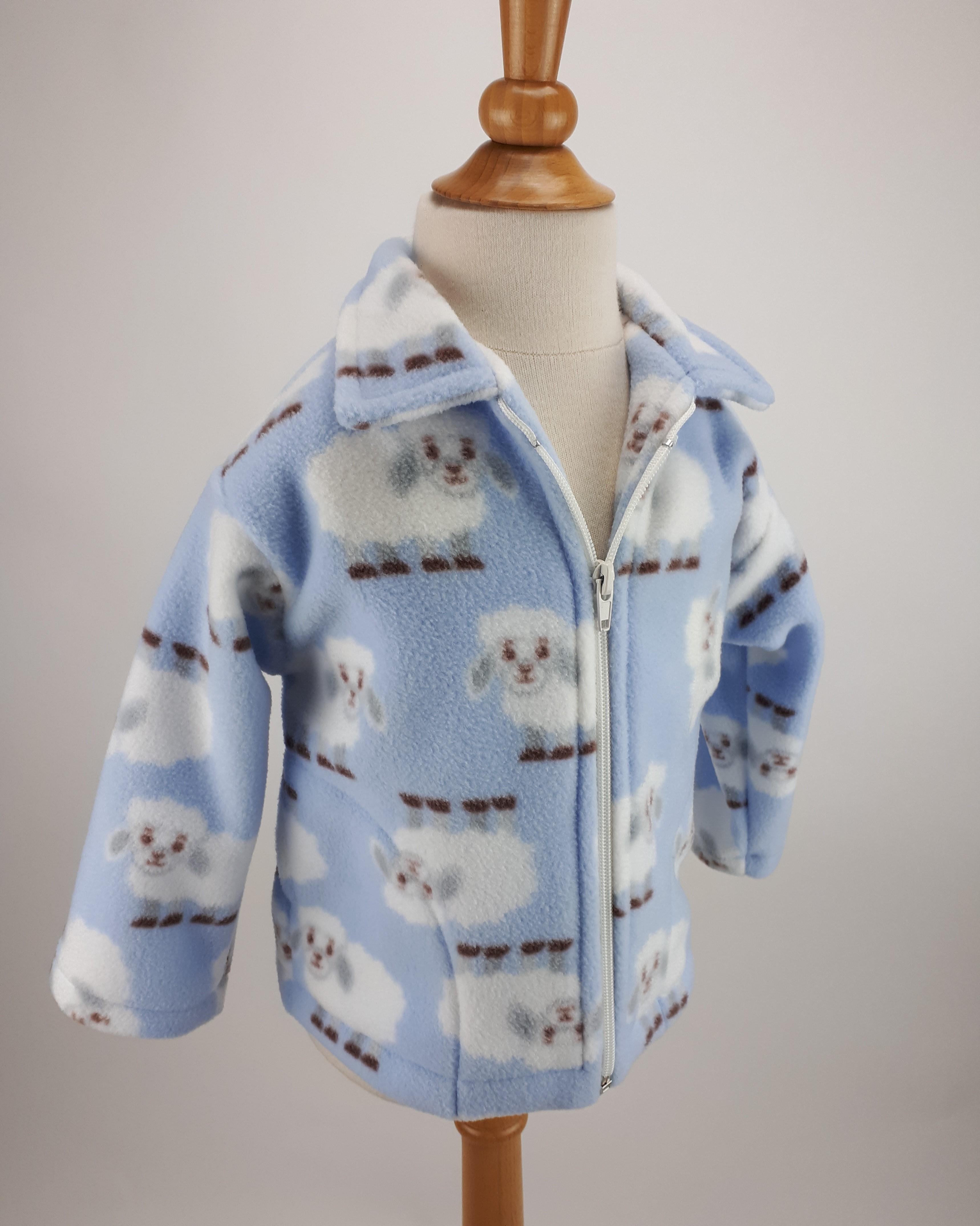 Pale Blue Sheep Jacket