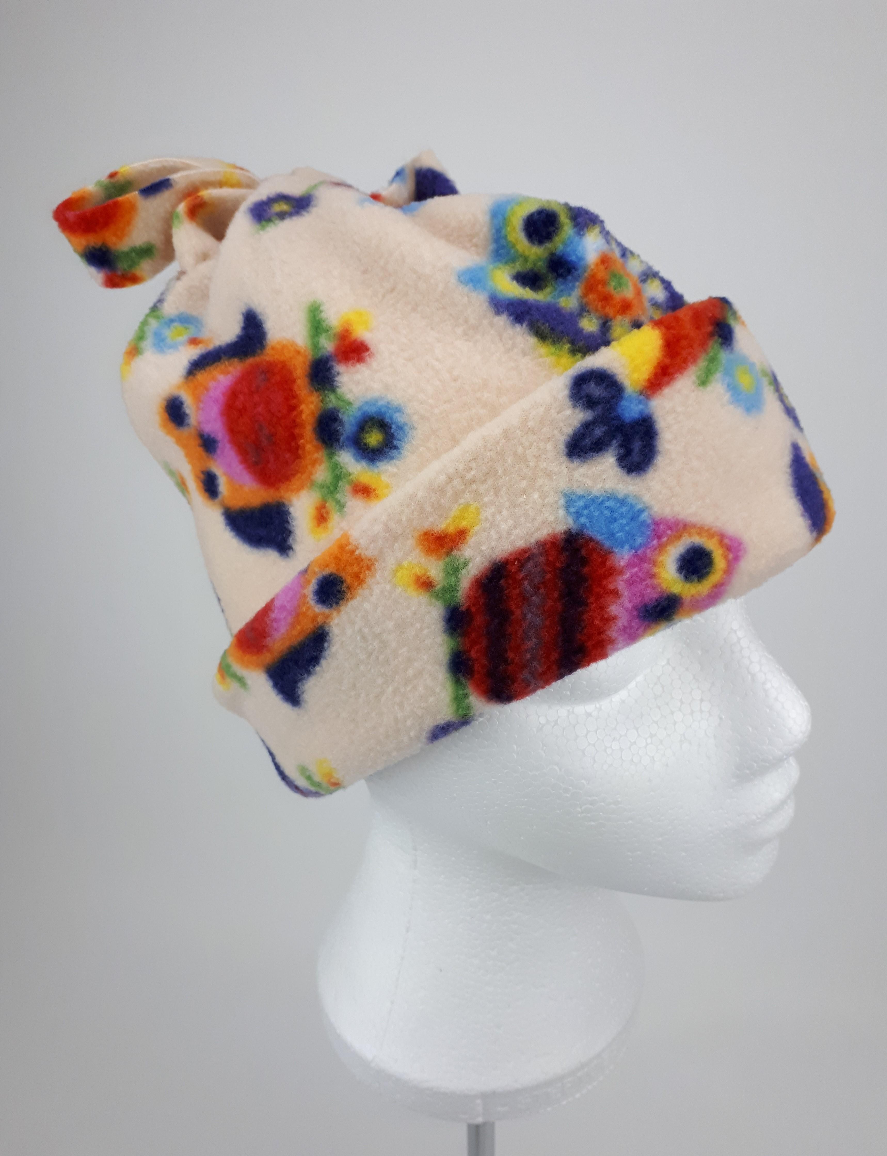 Beige Owl Hat