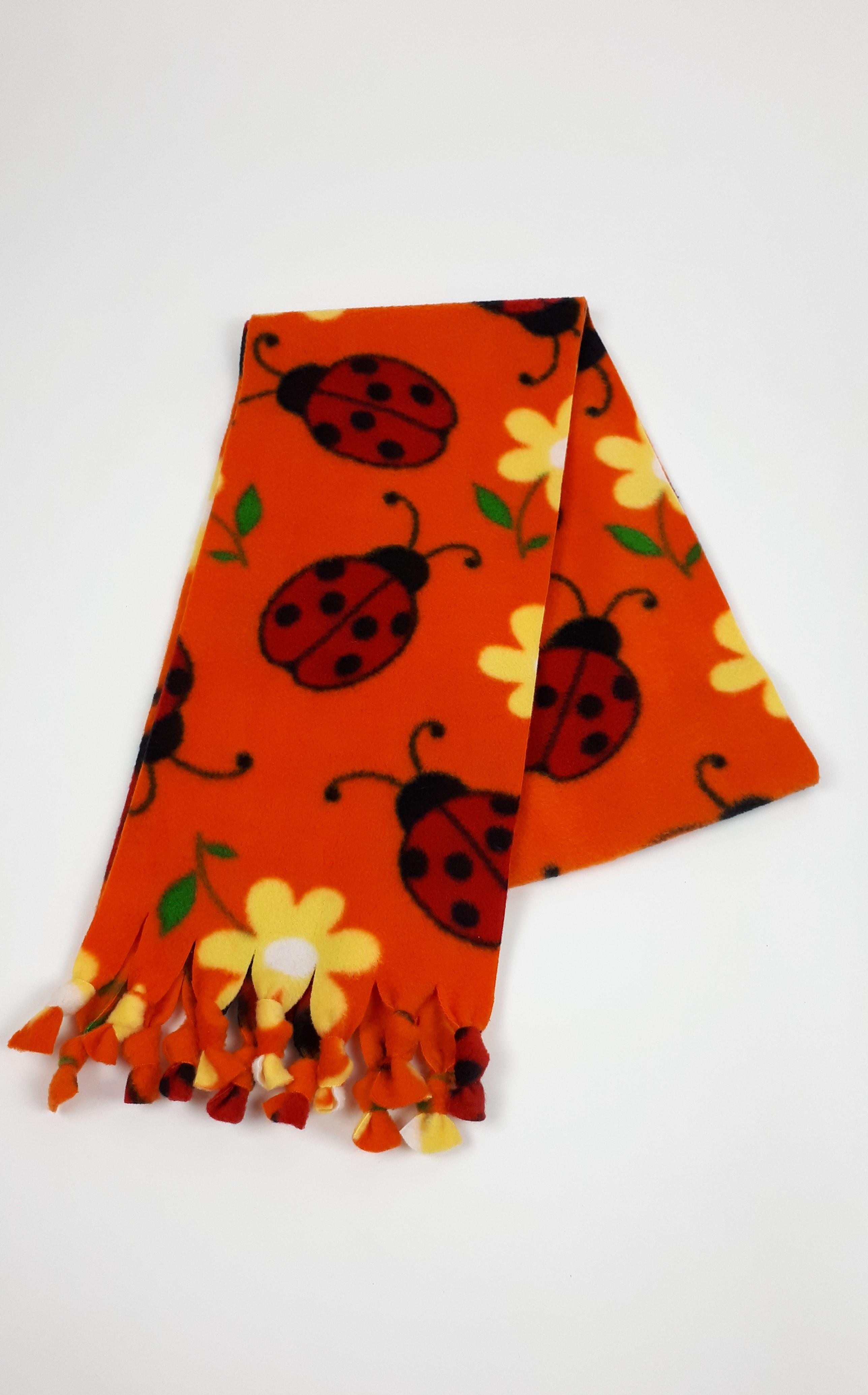 Orange Ladybird Scarf