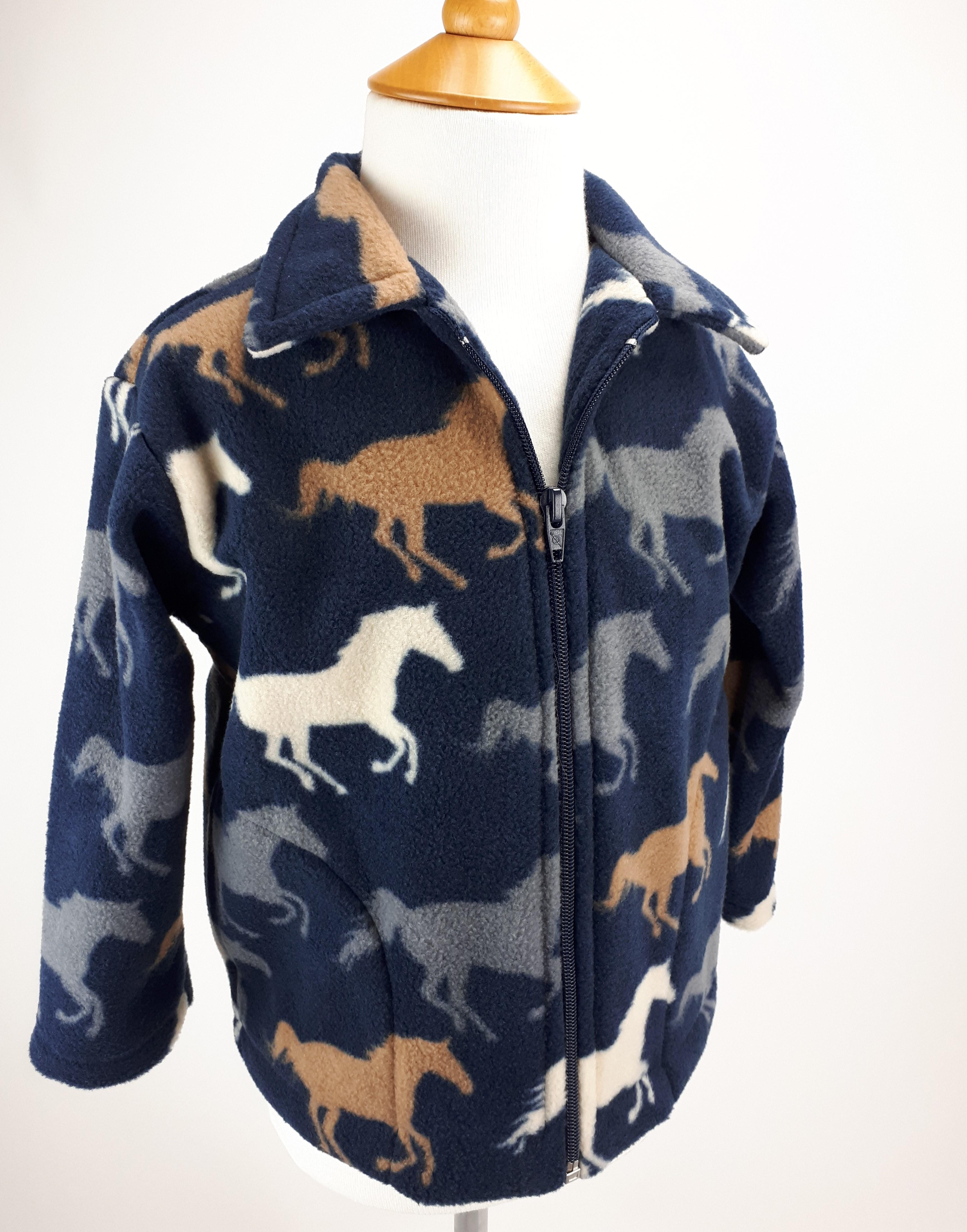 Navy Horses Jacket