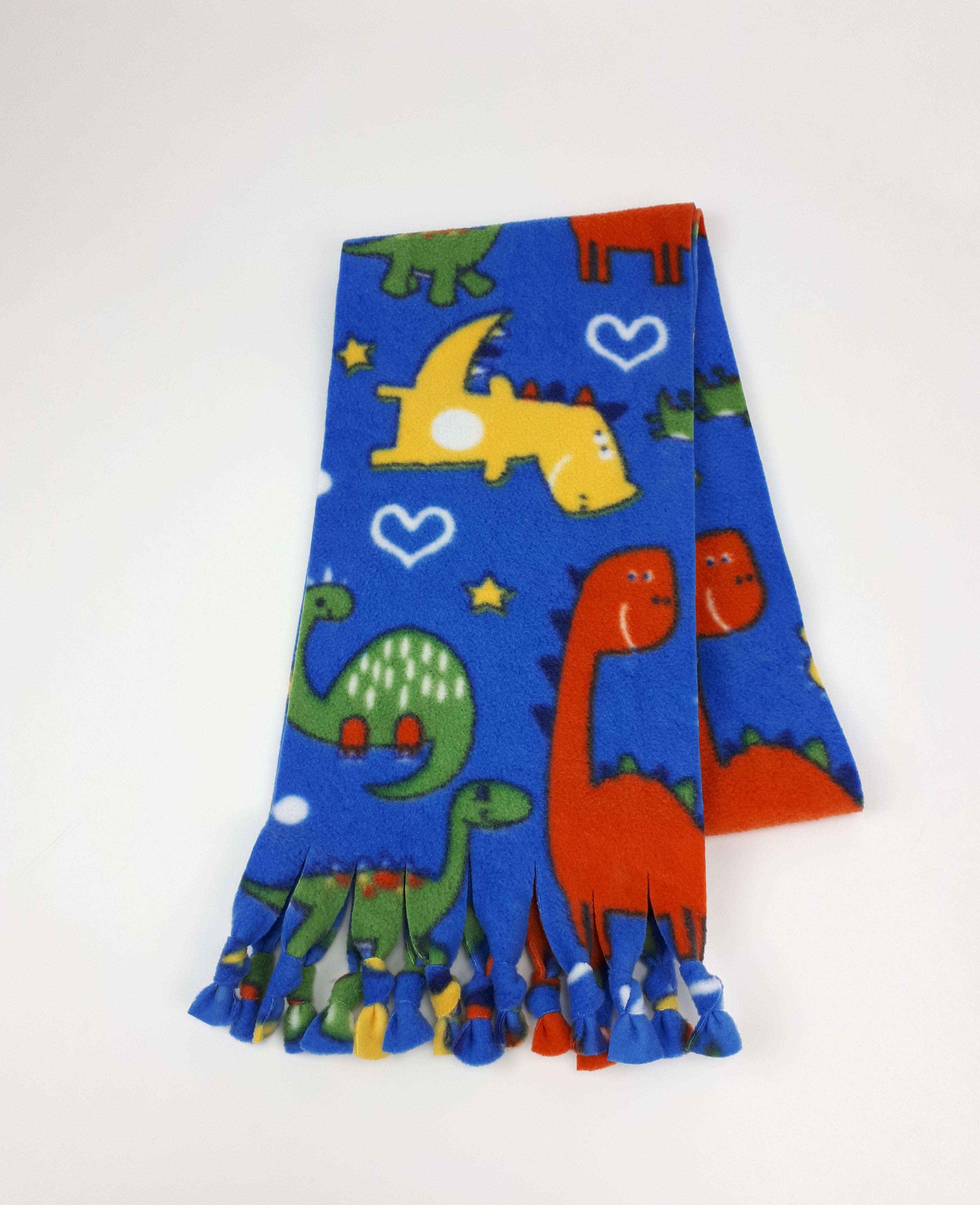 Blue Dinosaurs Scarf