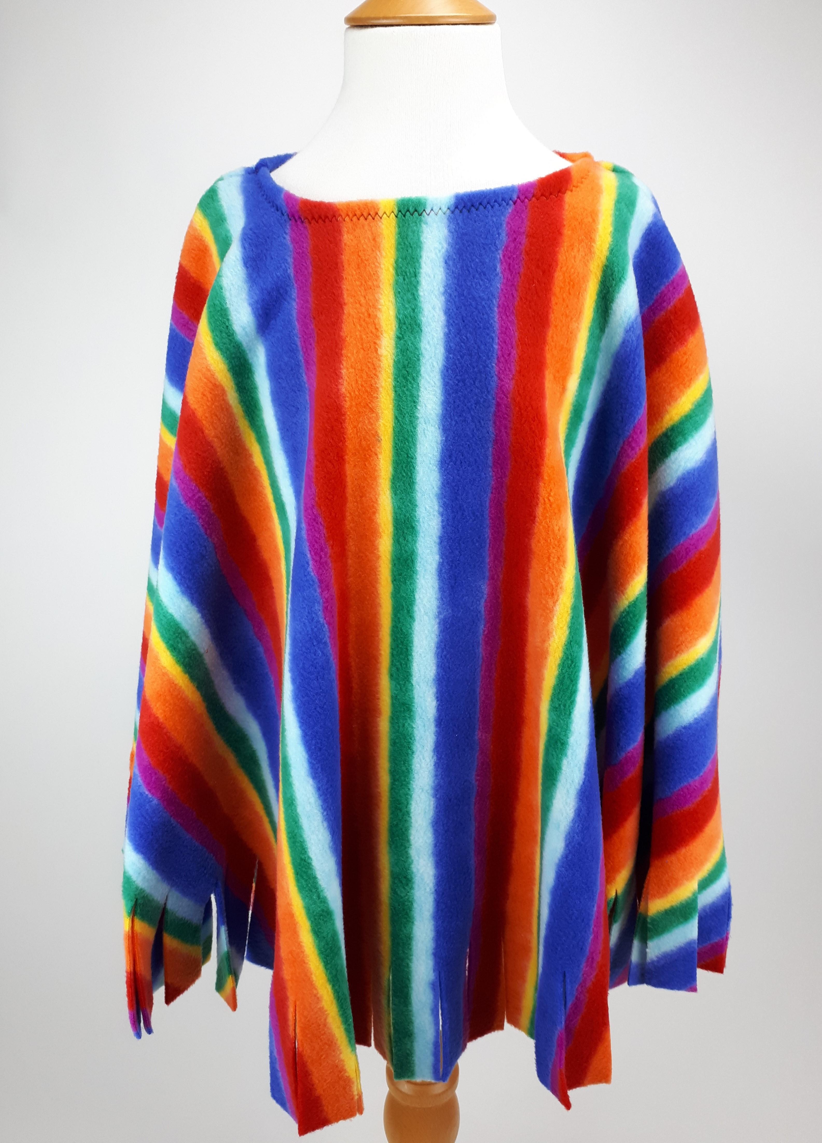 Rainbow Poncho