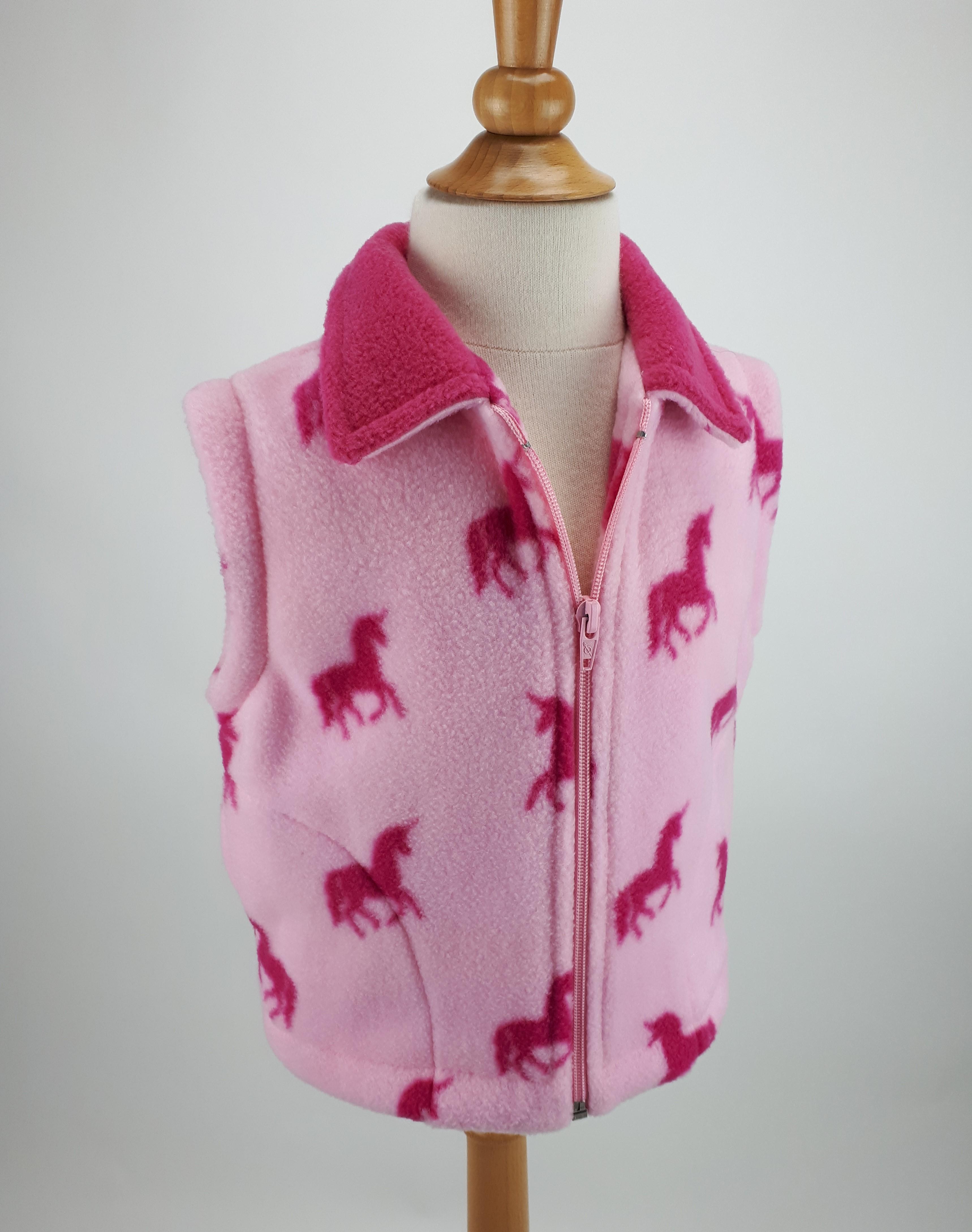 Pink Small Unicorn Gilet
