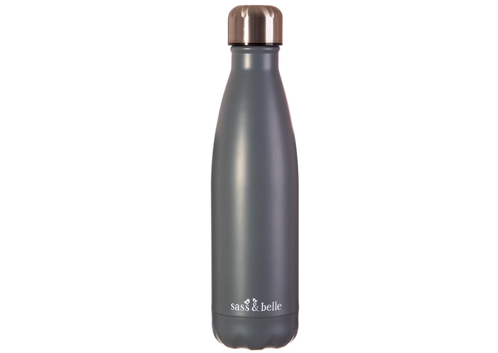 Grey Stainless Steel Drinks Bottle