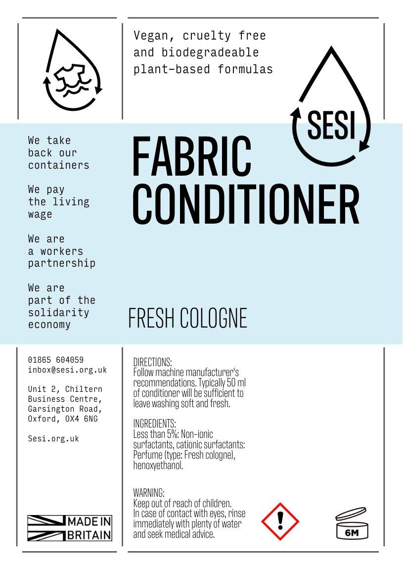 Fabric Conditioner, Cologne