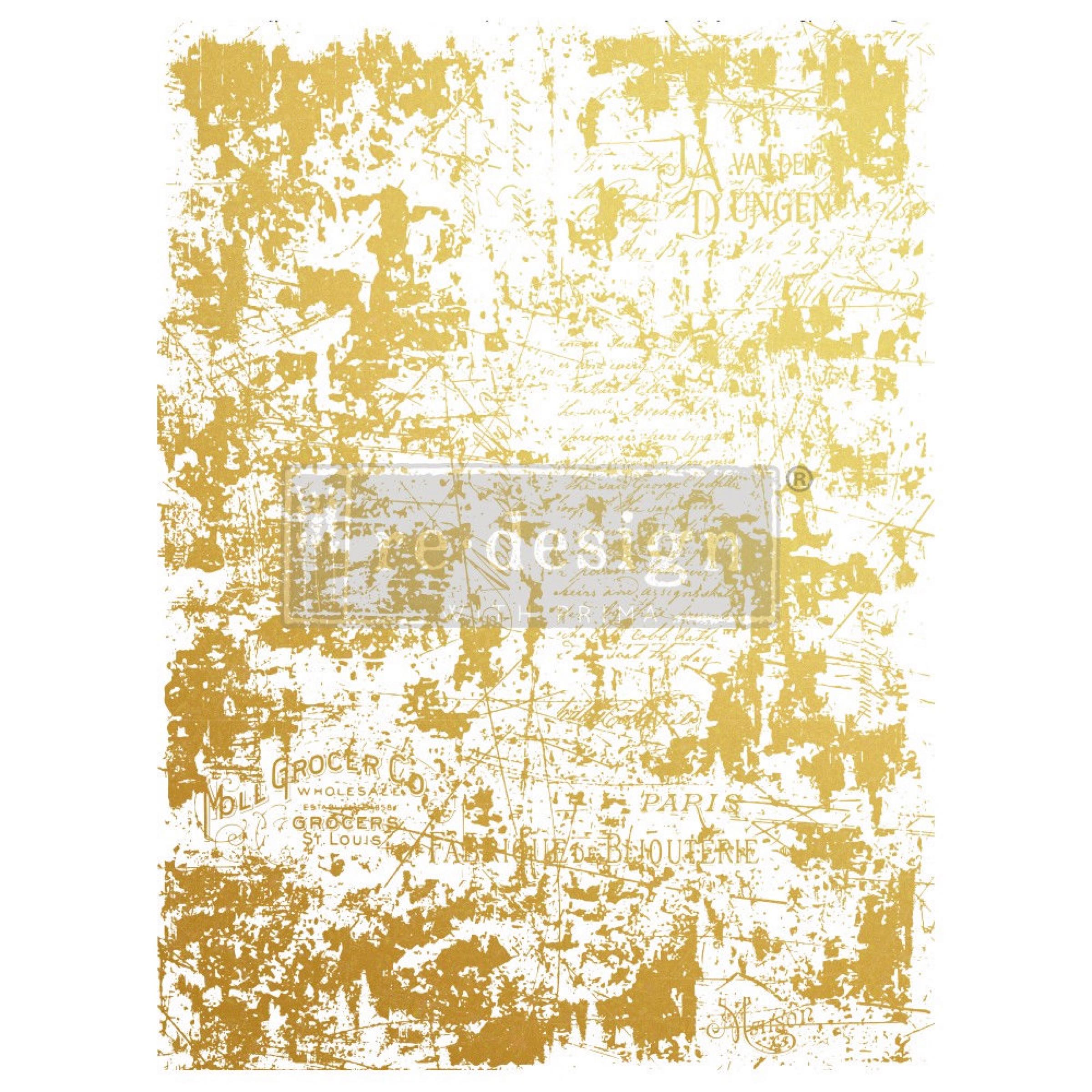 Re-design with Prima Decor Transfer - Gilded Wall OUT OF STOCK