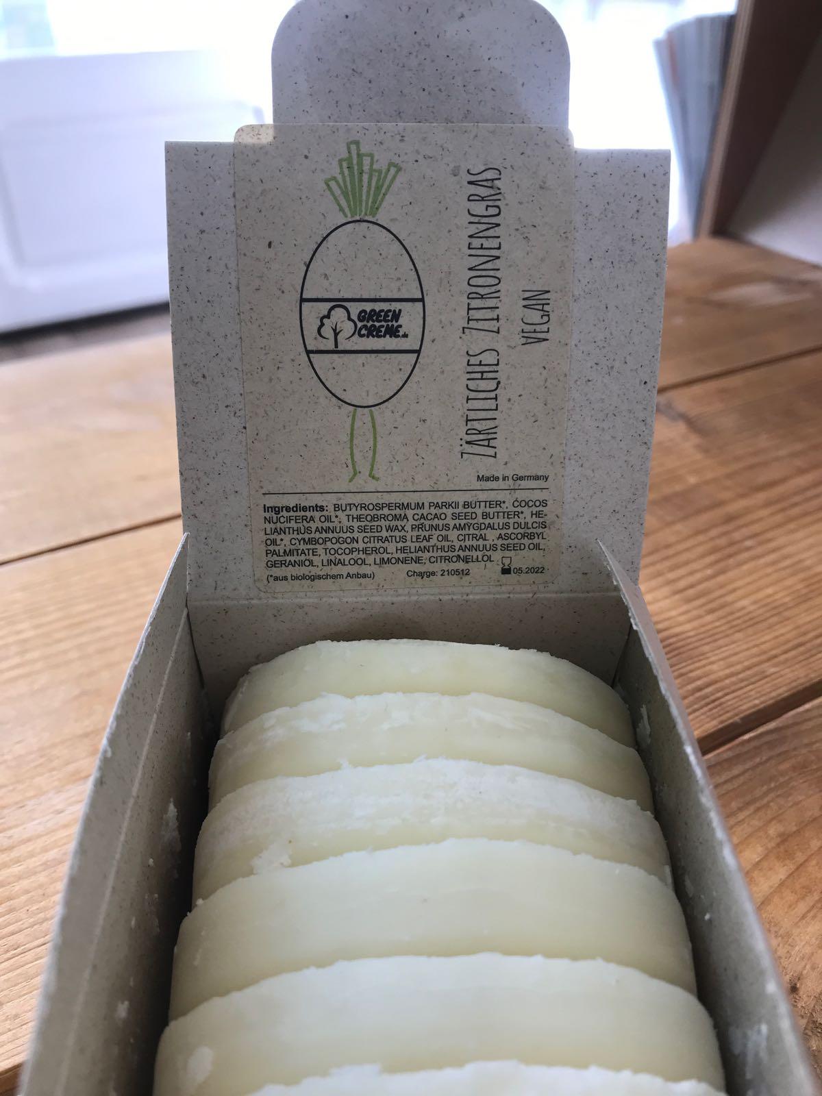 feste Handcreme Zitronengras, VEGAN, unverpackt, Bio