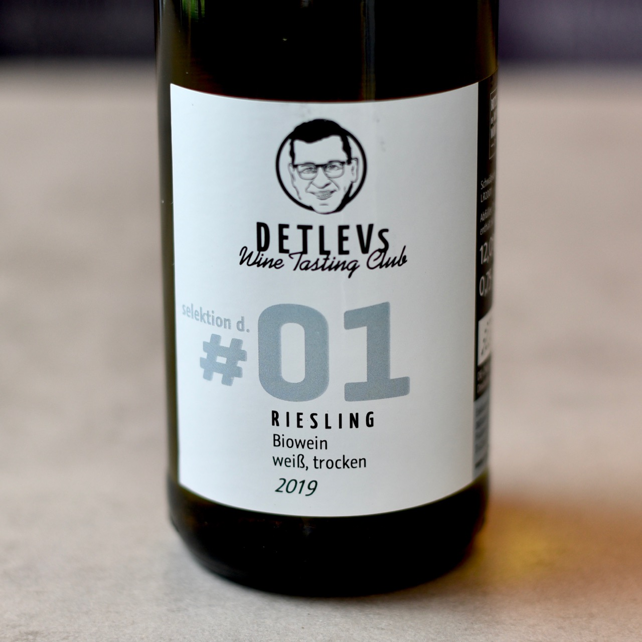 "DETLEVs ""selektion d."" No. 01 Riesling, bio, 2019"
