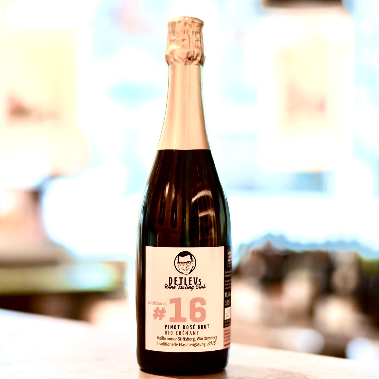 """DETLEVs """"selektion d."""" No. 16 Crémant Pinot Rosé Brut, bio"""