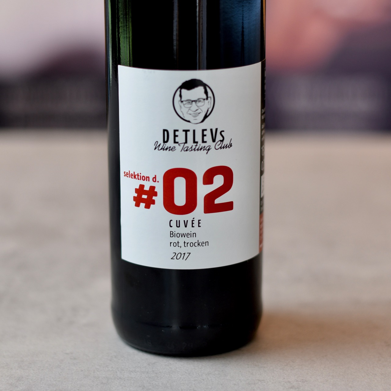 "DETLEVs ""selektion d."" No. 02 Spätb., Cabernet, Lemb. Cuvee rot, 2017, bio"