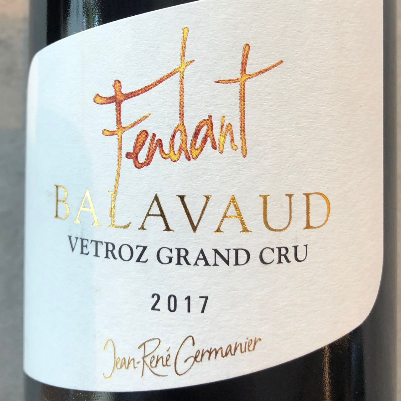 Germanier Fendant du Valais Grand Cru2017 AOC