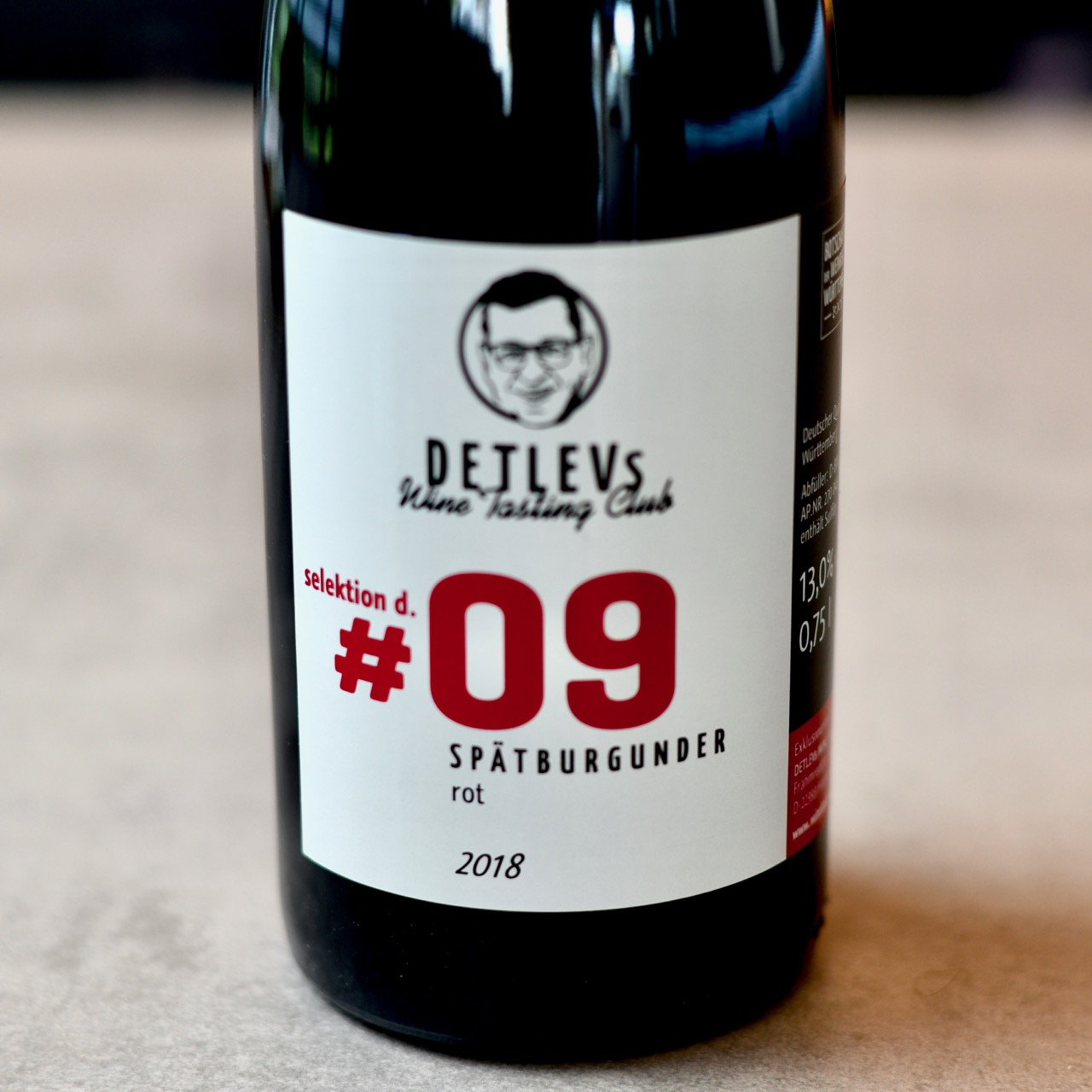 "DETLEVs ""selektion d."" No. 09 Spätburgunder, rot, 2018"
