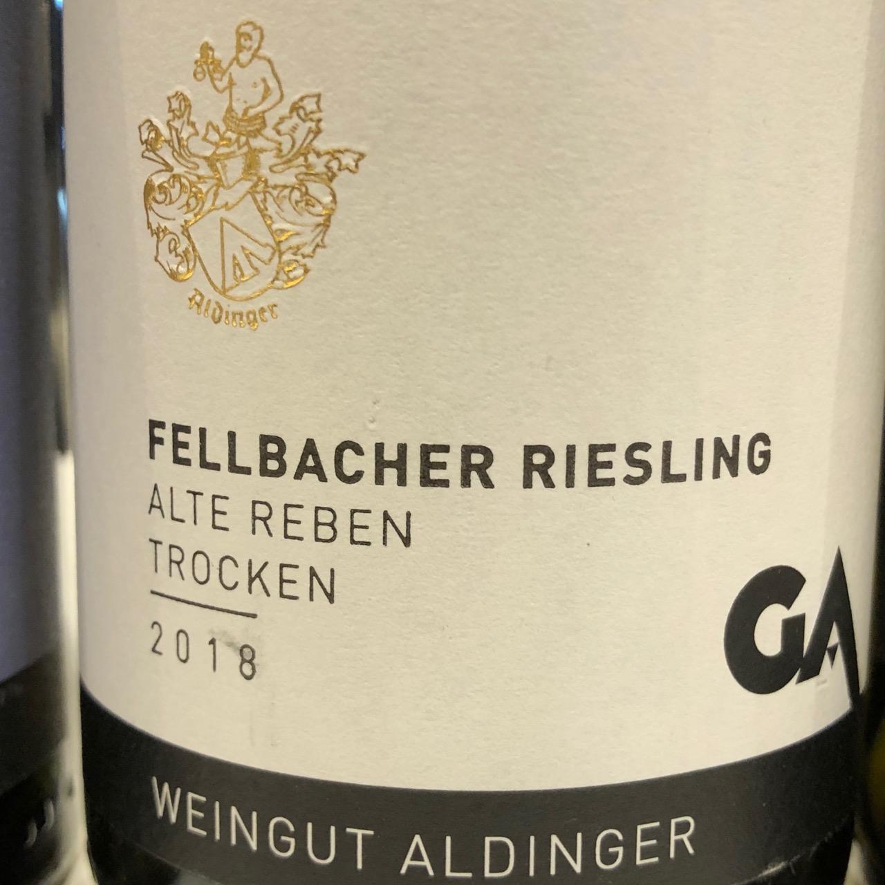 Aldinger Fellbacher Riesling Alte Reben Ortswein 2019