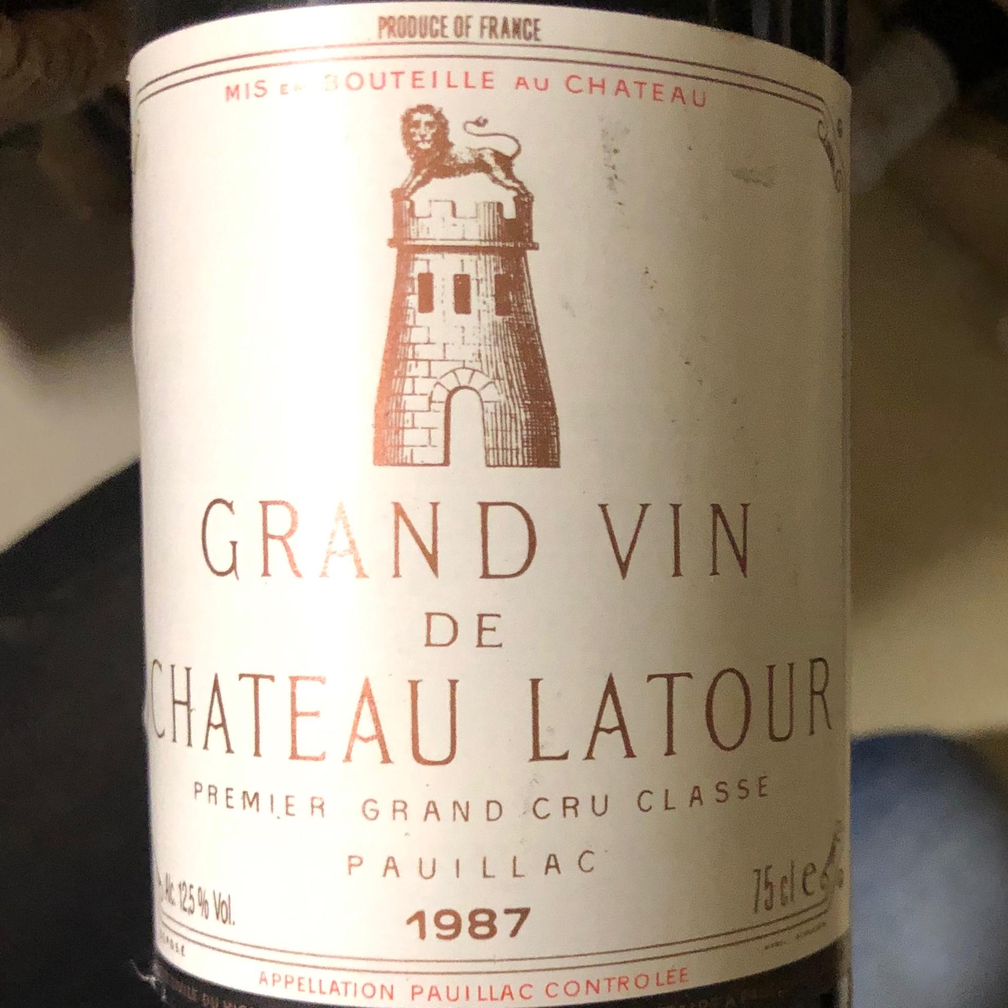 Chateau Latour, Jahrg. 1987