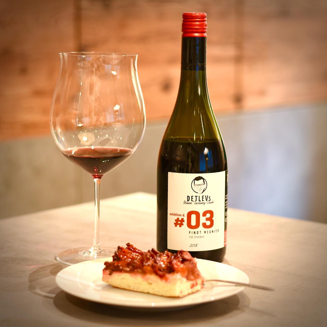 """DETLEVs """"selektion d."""" No. 03 Pinot Meunier, Alte Reben, rot, 2018"""