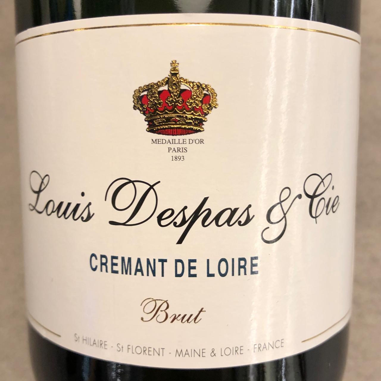 Louis Despas Cremant, Loire, Blanc de Blancs Brut