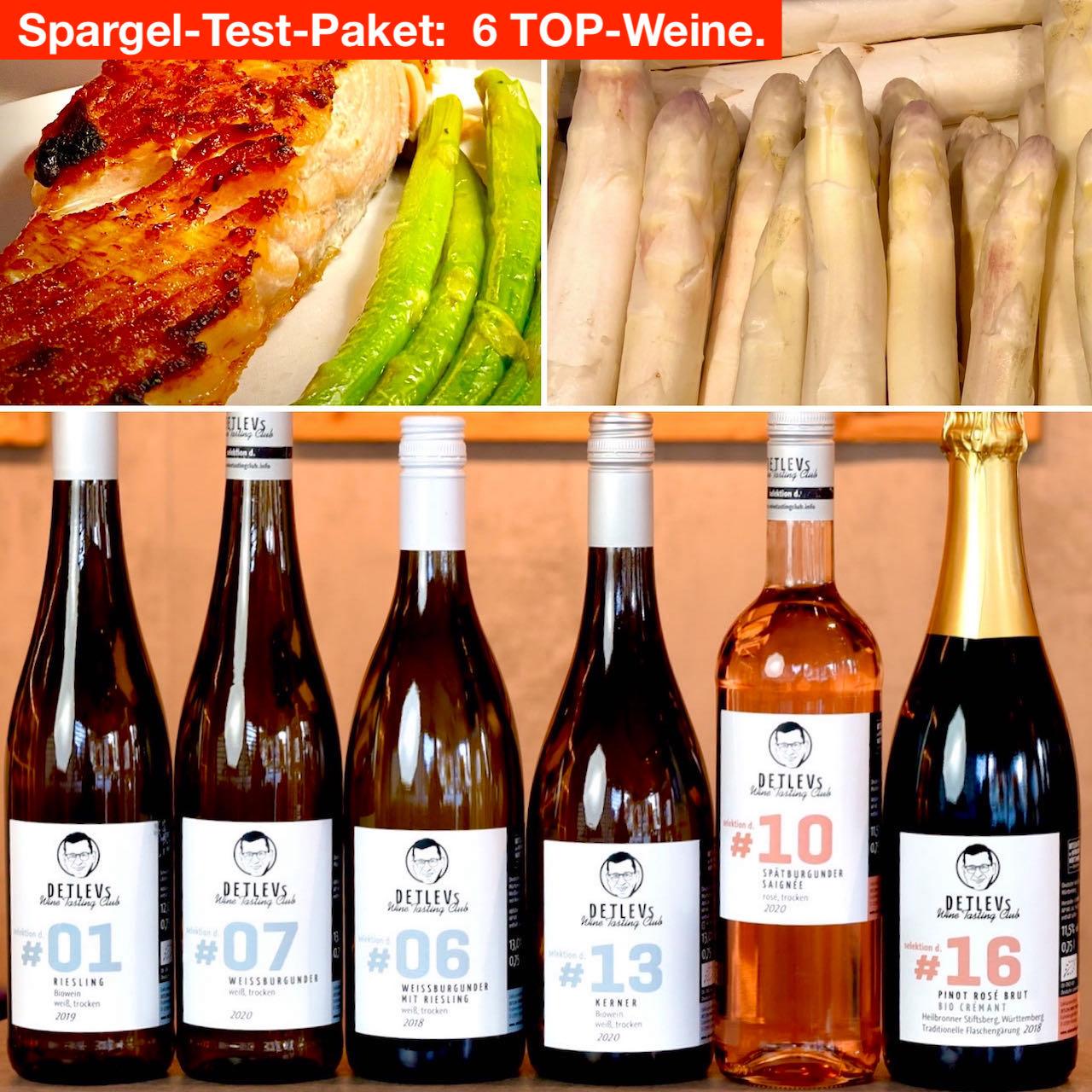 SPARGEL-Test-Paket: 6 TOP-Weine