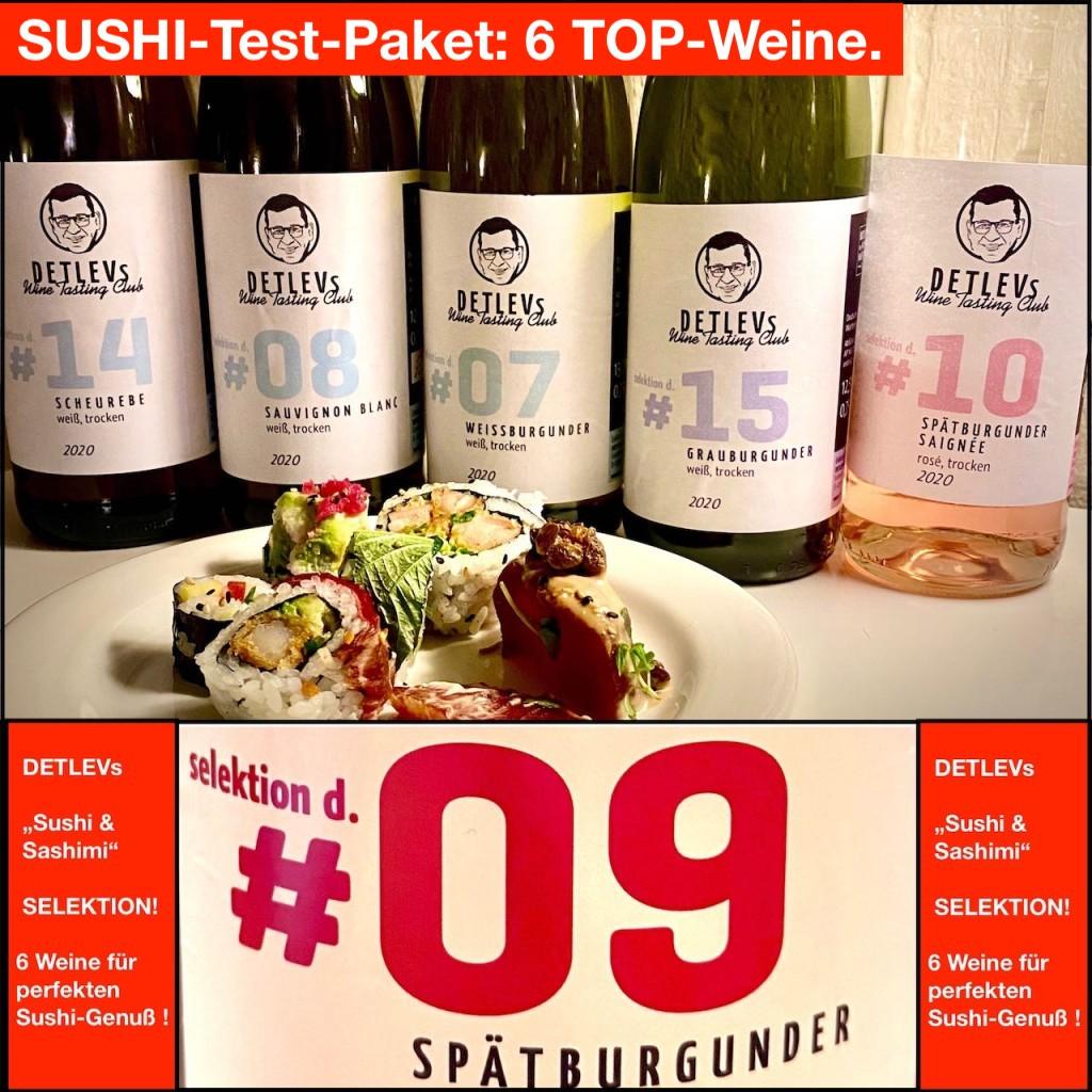 SUSHI-Test-Paket:  6 TOP-Weine