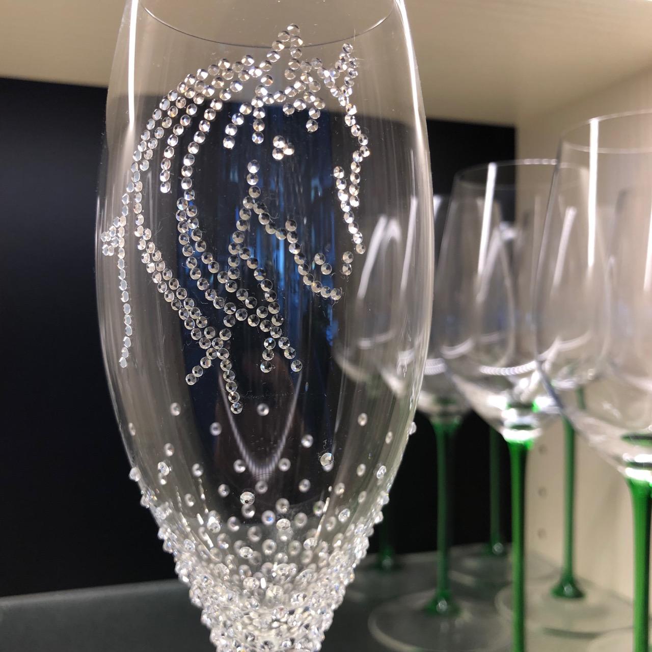 Merandi / Riedel Champagnerglas mit 319 Swarovski-Kristallen / Riedel Sommeliers-Serie