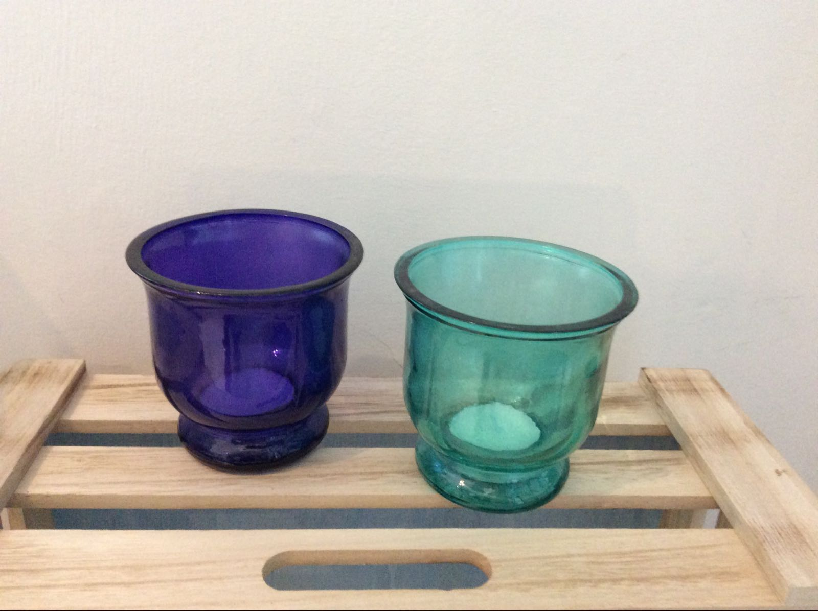 Tea light recycled glass