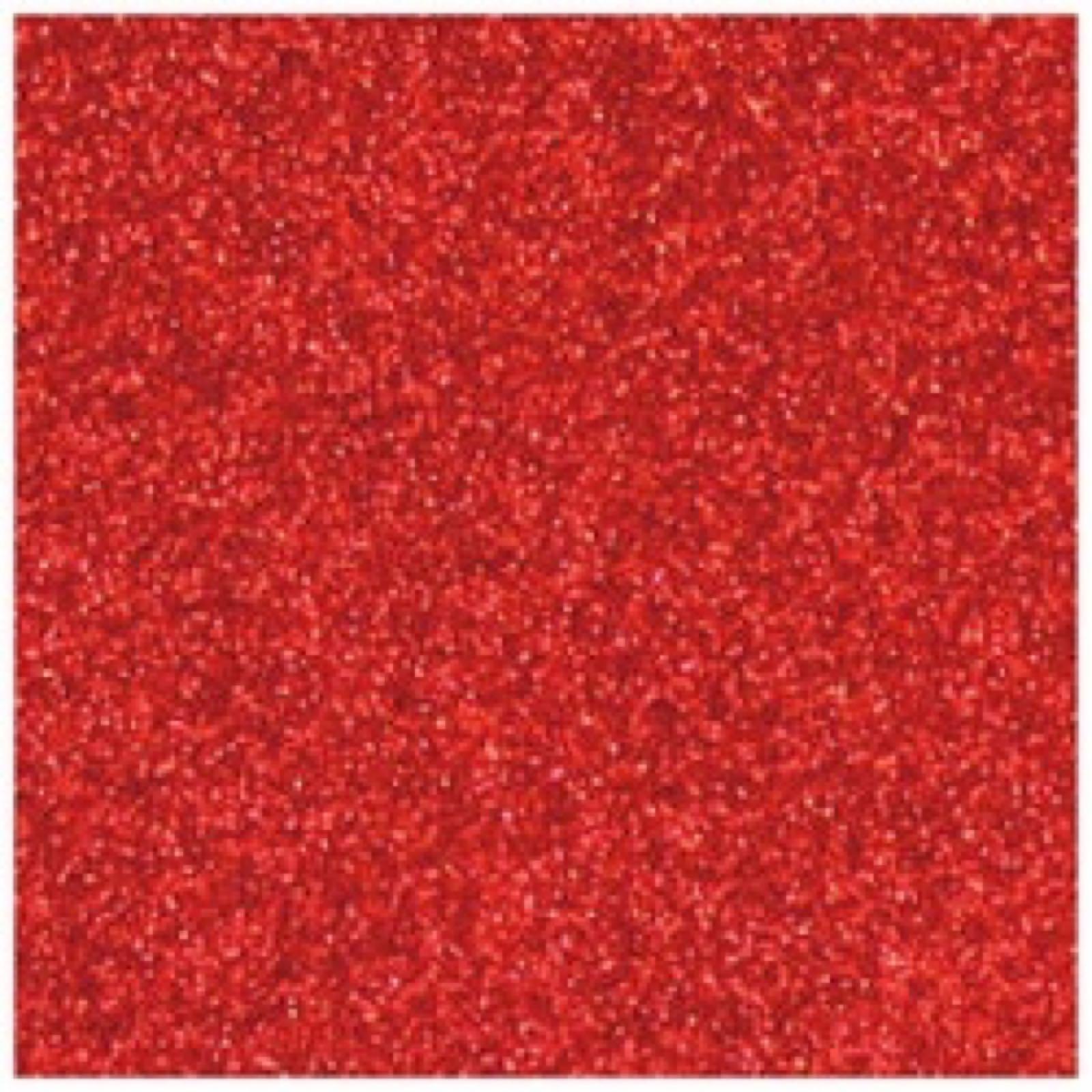 Glitterkartong 12´x12´ red